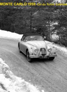 Cabriolet Jaguar XK 150, Monte Carlo 1959 , Georges AUBRAY